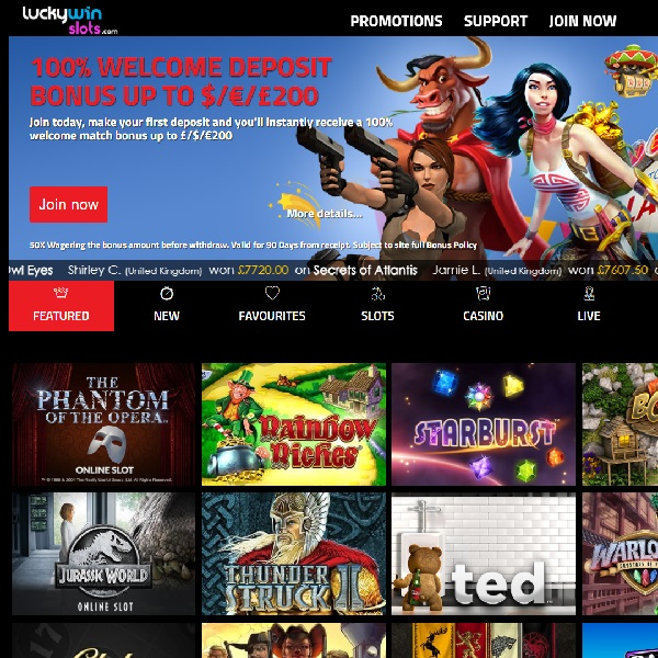 Lucky Win Slots Casino Offers Games From 20 Developers