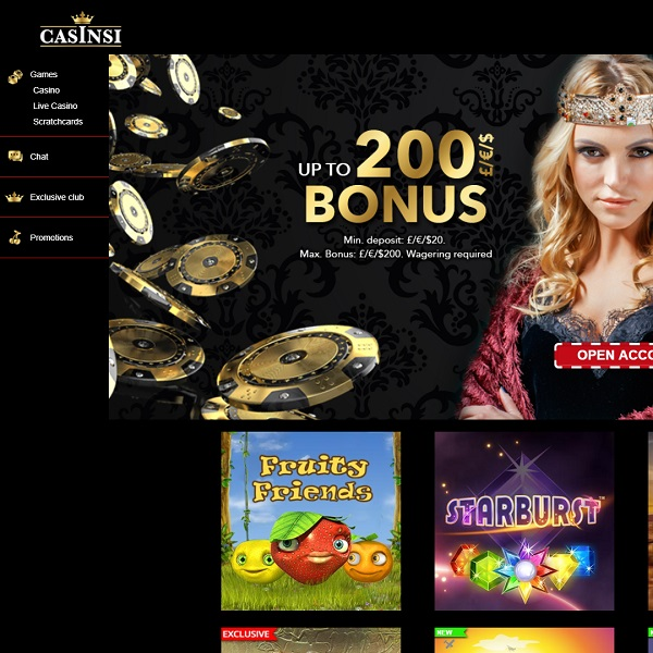 Casinsi Casino Gives You the Royal Treatment