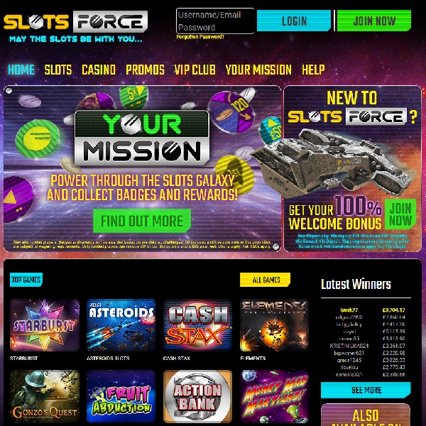 Slots Force Casino Review – Sci-Fi Gambling