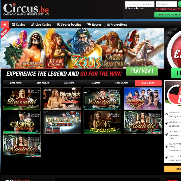 Circus Casino Offers Lively Online Gambling