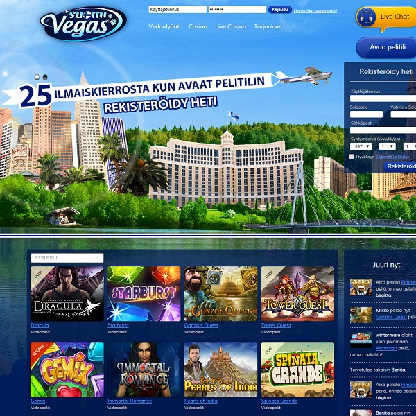 Suomi Vegas Review – Vegas Style Gaming for Finns