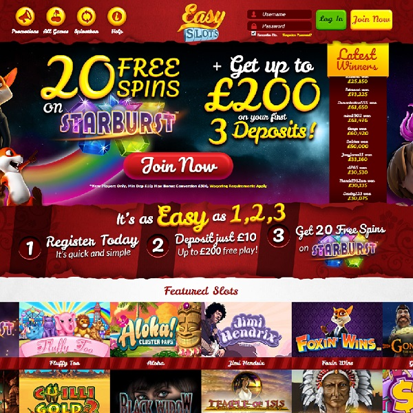 Easy Slots Casino Launches with Hundreds of Games