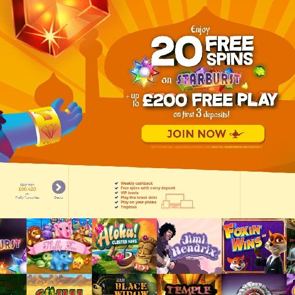 Aladdin Slots Casino Offers Gaming Wonders