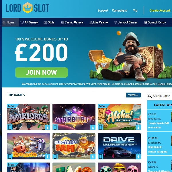 Lord Slot Casino Invites You to Conquer the Games