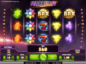 Online casino games developer Net Entertainment has launched a new mobile slot game, Starburst, and a new video slot, the company's first to use Flash 11.