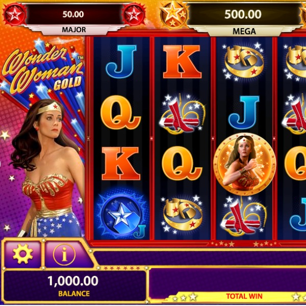 Wonder Woman Slot Offers Progressive Jackpots