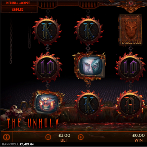The Unholy Slots Will Scare You With Huge Progressive Jackpots