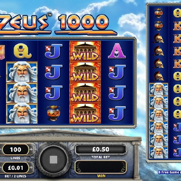Zeus 1000 Slot Features Two Sets of Reels