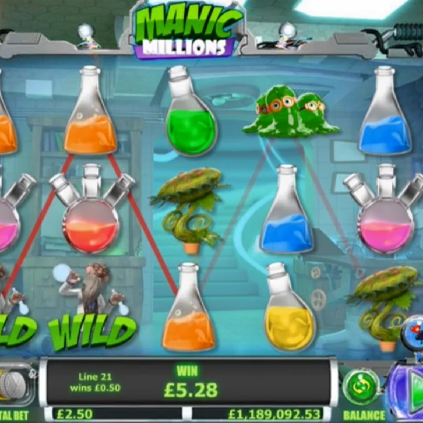 Go Into the Lab with Manic Millions Slot