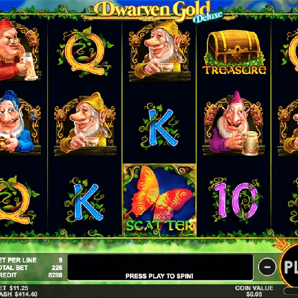 Dwarven Gold Deluxe Slots Offers Golden Treasures