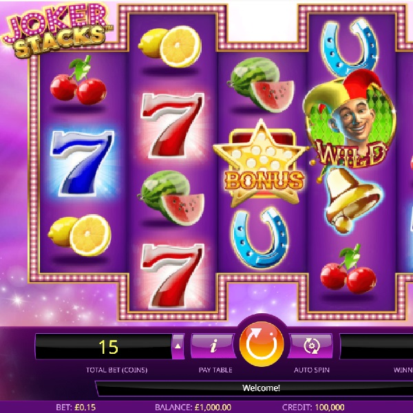 Joker Stacks Slots Features Up To Three Wild Reels