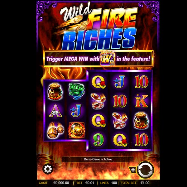 Wild Fire Riches Slots Features Three Wild Symbols