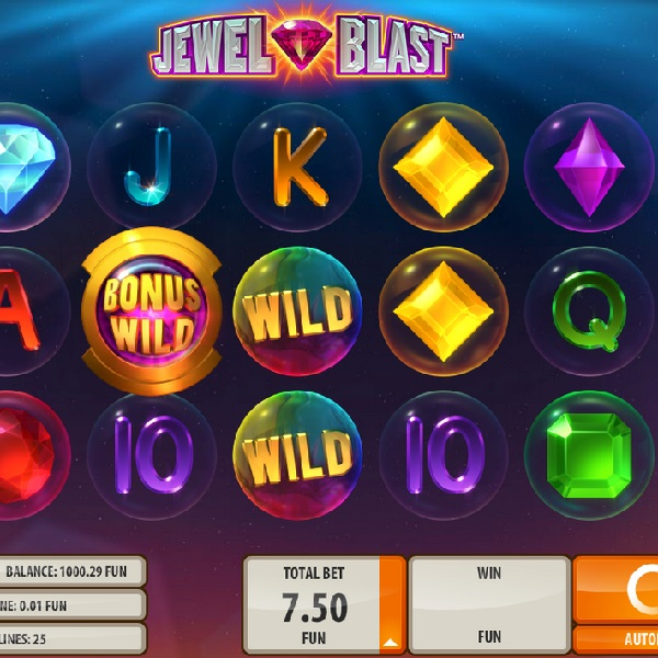 Jewel Blast Slot from Quickspin Offers Exploding Combinations