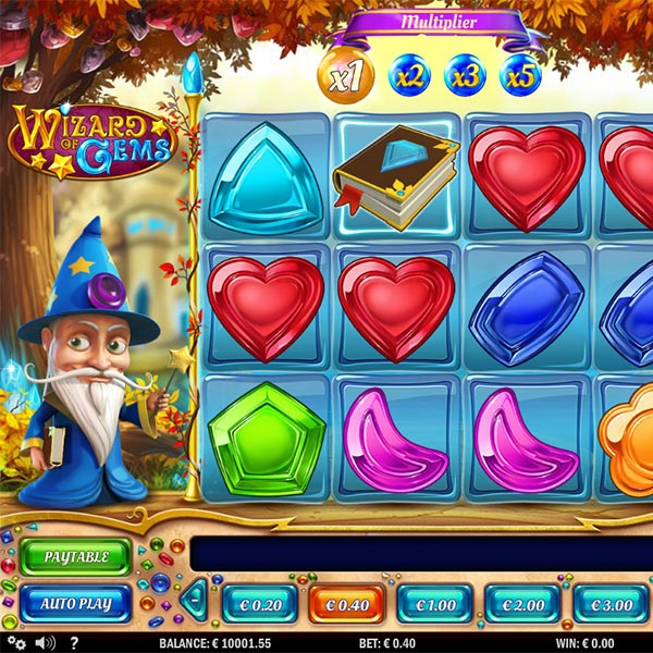 Wizard of Gems Slot Features Crumbling Combinations