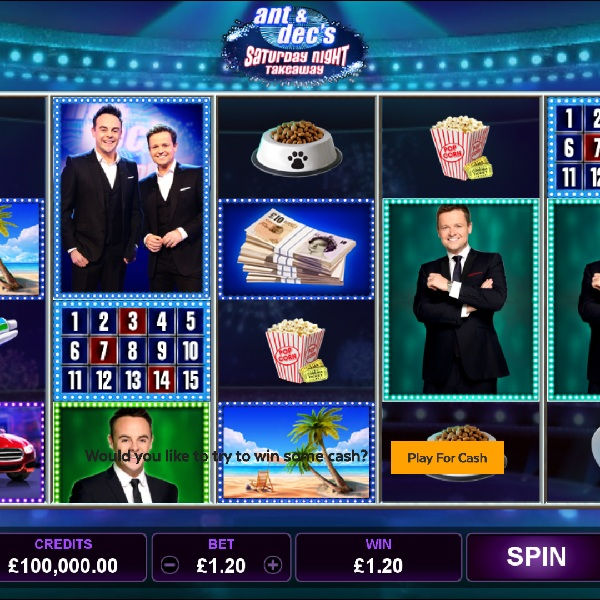 Ant & Dec's Saturday Night Takeaway Slots Review – Win the Ads Bonuses