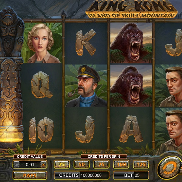 Amaya Release King Kong: Island of Skull Mountain Slot