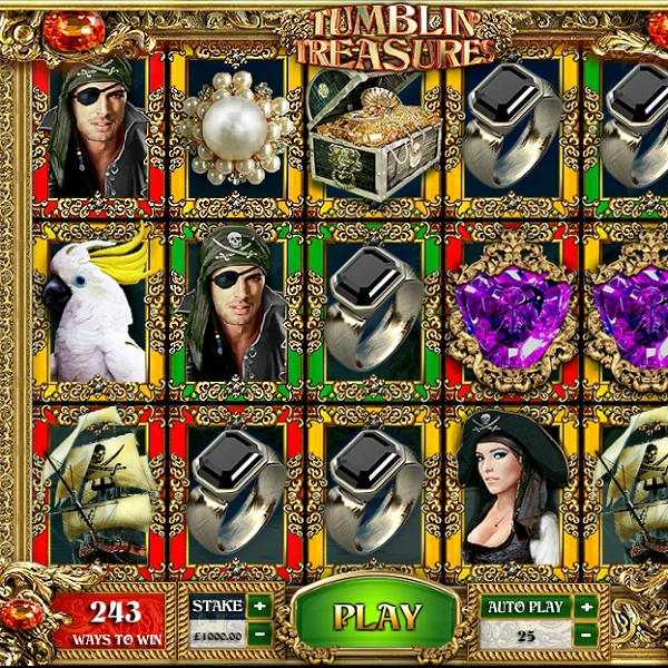 Tumblin' Treasures Slot is A Swashbuckling Progressive Adventure