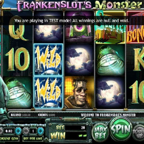 Frankenslot's Monster, a new slot from Betsoft, takes place in Frankenstein's lab and offers electrifying wins.