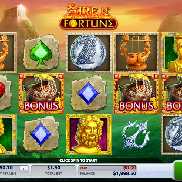 Fire N� Fortune Slot Offers a Choice of Free Spins Games
