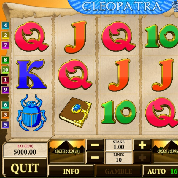 Cleopatra Slots Offers You Riches from the Pyramids
