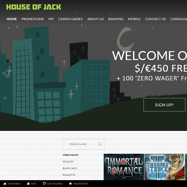 House of Jack Casino Launches With Excellent Bonuses