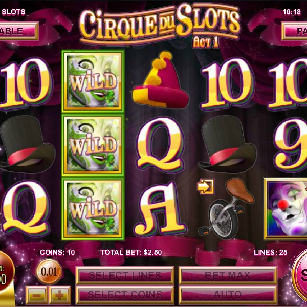 Cirque du Slots Review – Circus Act Wins