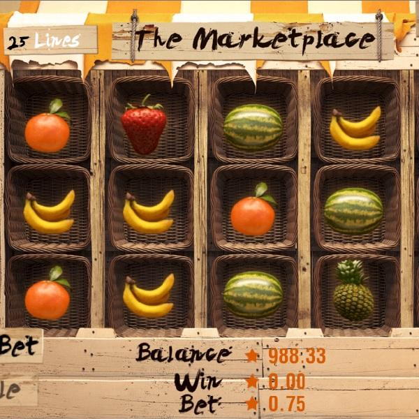 The Marketplace Slot Offers Fresh Fruit and Free Spins