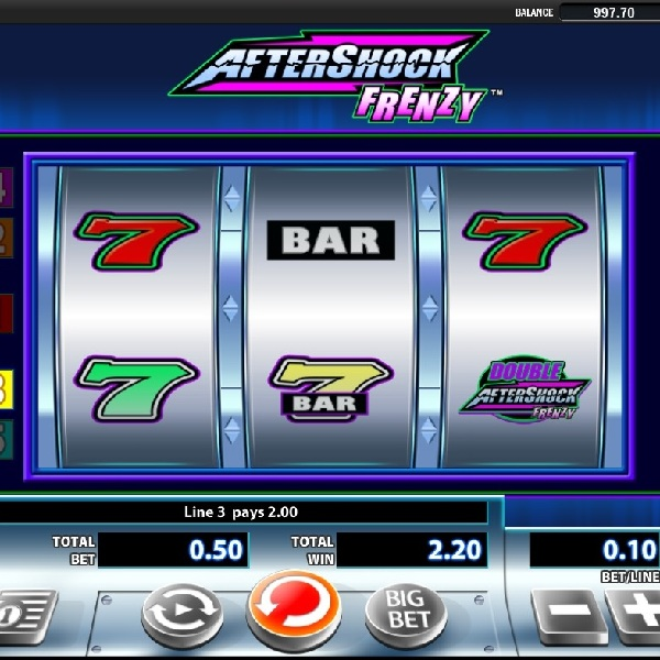 Aftershock Frenzy Slot Offers Mobile Multipliers