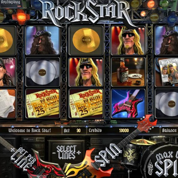 Rock Star Slot Features Epic Bonus Games