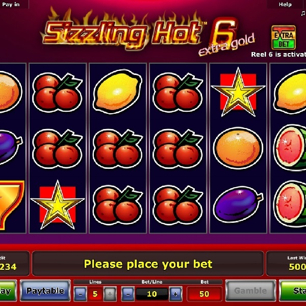 Sizzling Hot 6 Slot Features an Optional Sixth Reel