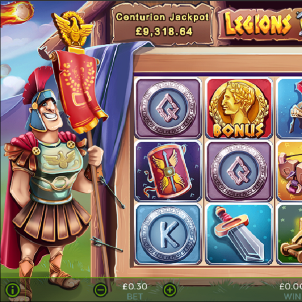 Legions Of Luxury Slots Offers The Roman Empire's Progressive Jackpot