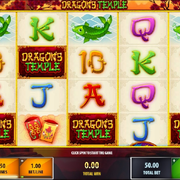 Dragon's Temple Slot Features Wild Free Spins