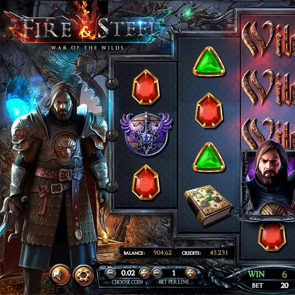 Fire & Steel Slot Offers a Battle of Wilds