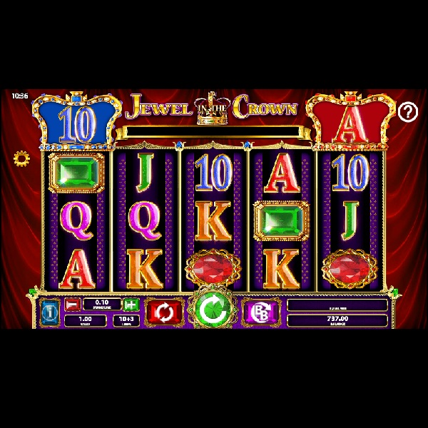 Jewel In The Crown Slot Features Crowned Reels