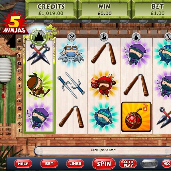 5 Ninjas Slot Features Three Japanese Bonuses