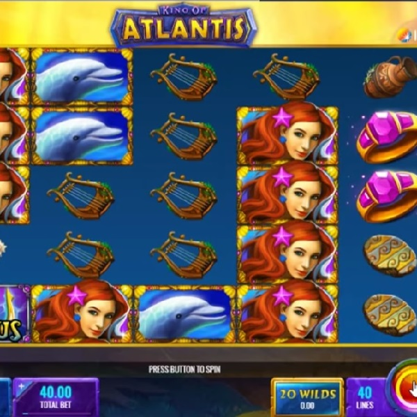 King of Atlantis Slot Brings You Underwater Winnings