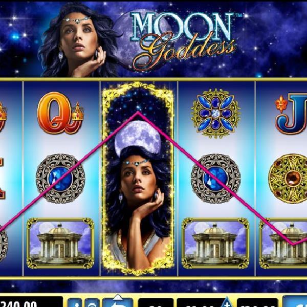 Moon Goddess Slot Machine Offers Wheel Bonuses