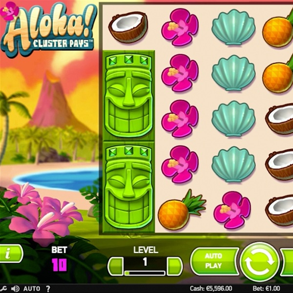 Aloha! Cluster Pays Slot Offers Sticky Win Respins