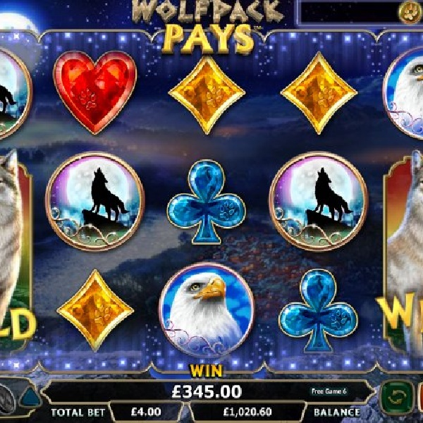 Wolfpack Pays Slot Offers Free Respins with Added Wilds