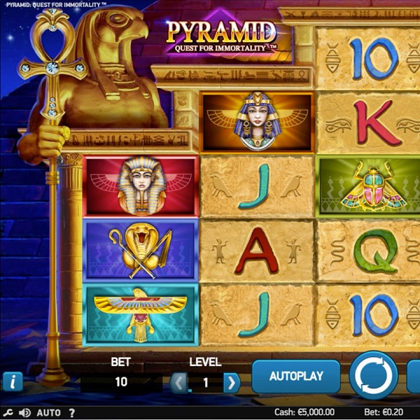 Pyramid: Quest for Immortality Slot Offers Avalanche Wins