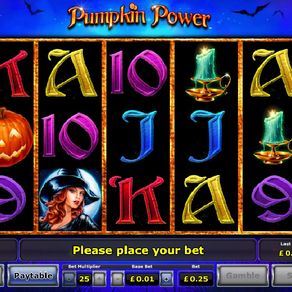 Pumpkin Power Slot Offers Multipliers and Free Spins