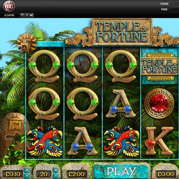 Temple of Fortune Slot Features Three Bonus Games