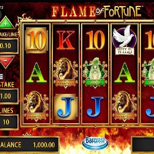 Flame of Fortune Slot Features Fiery Bonus Games