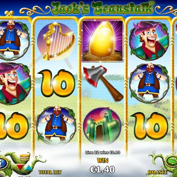 Jack's Beanstalk Slot Features Growing Wild Symbols