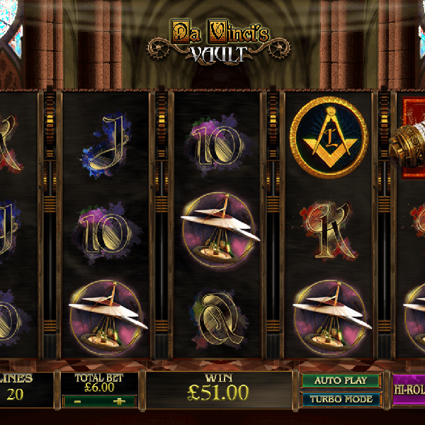 Da Vinci's Vault Slots Offers a World of Hidden Treasures