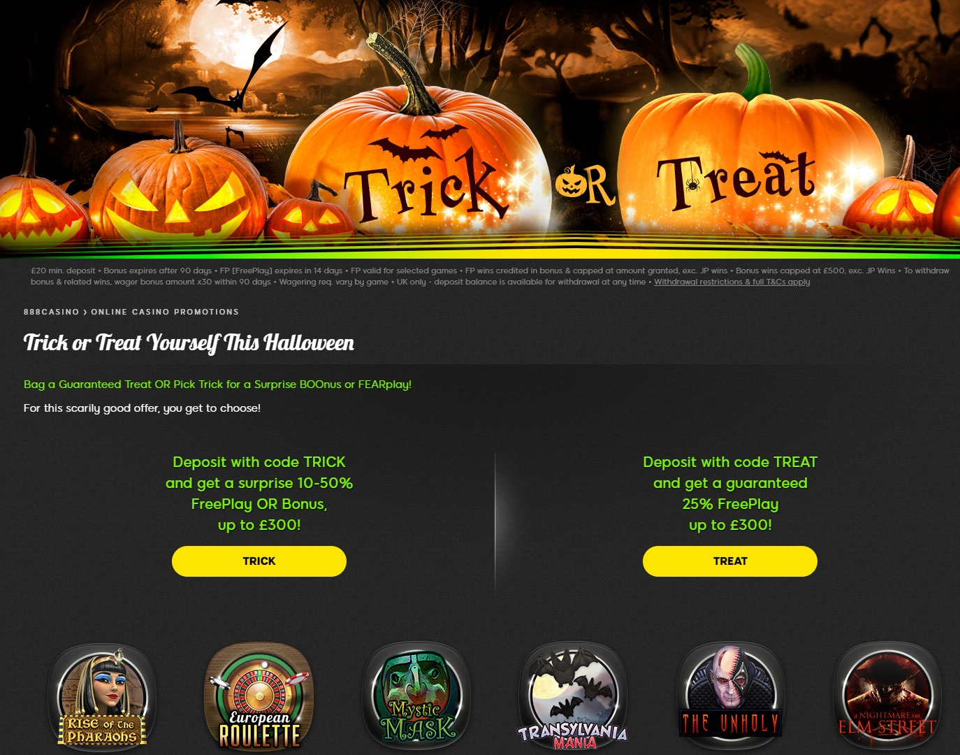 Get In The Halloween Spirit with Spooky Casino Promotions
