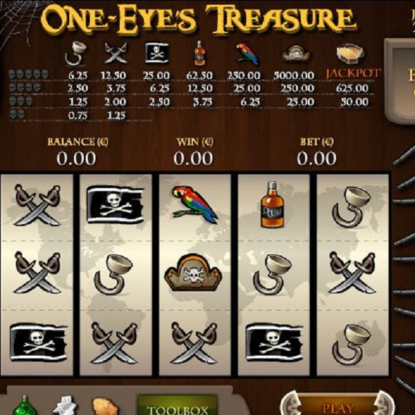 Paf Casino's One Eye's Treasure Video Slot Offers €12.8K