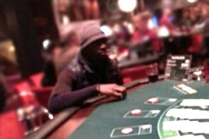 Papiss Cisse Pictured Playing Blackjack