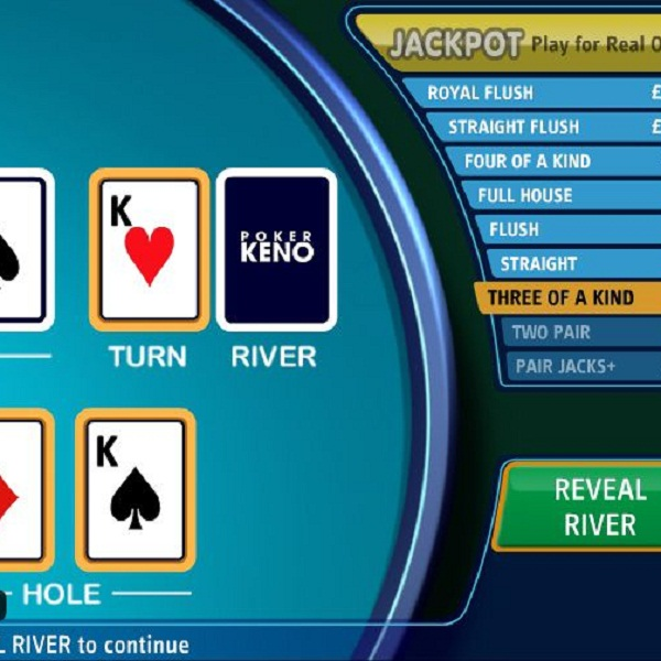 £75K Poker Keno Progressive Jackpot Available at Sky Vegas Casino