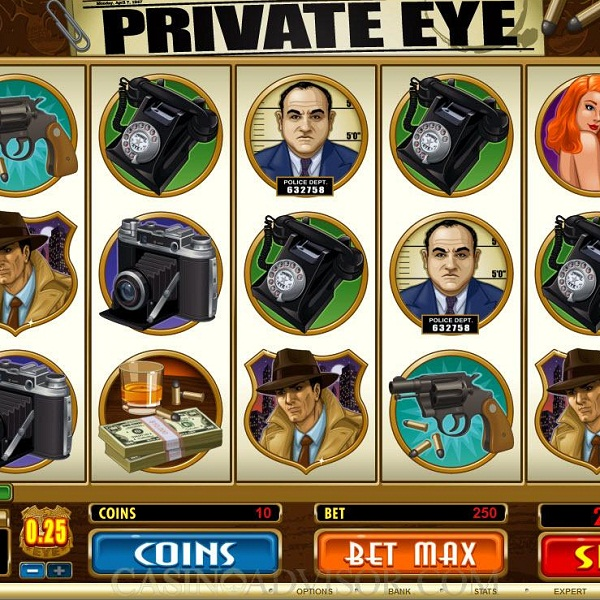 Private Eye Video Slots at Paf Casino Offers €24K